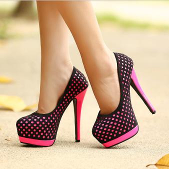 2013-hot-sale-autumn-sexy-color-block-polka-dot-cutout-ultra-thin-heels-high-heels-platform