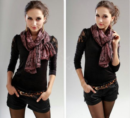 High-end-Fashion-long-scarf-shawl-women-warm-silk-lace-wrap-scarves-Pink-l2