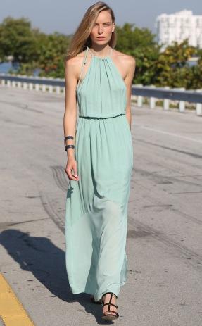 Concrete-Runway-Aqua-Maxi-Dress-Front-Full