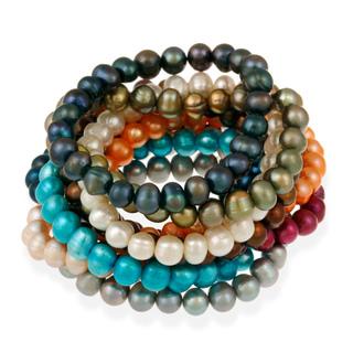Glitzy-Rocks-Colored-Freshwater-Pearl-Stretch-Bracelet-8-9-mm-P13048497