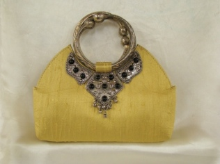 155_Light_yellow_raw_silk_purse