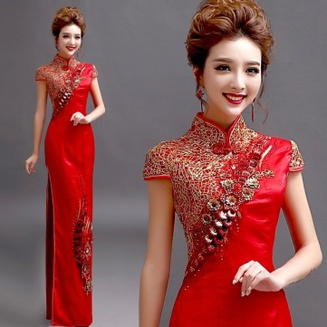 High-slit-brocade-Gold-Silk-Embroidery-chinese-oriental-dresses-women-sexy-formal-chinese-dress-xxxl-long