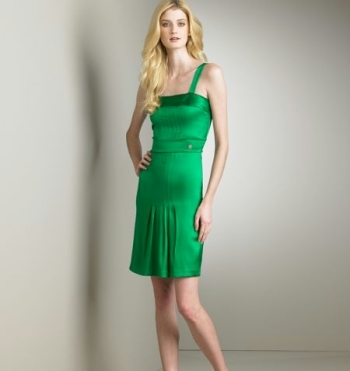 roberto-cavalli-green-silk-dress