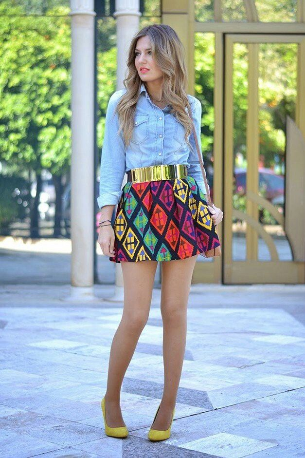 colorful-miniskirt-outfit