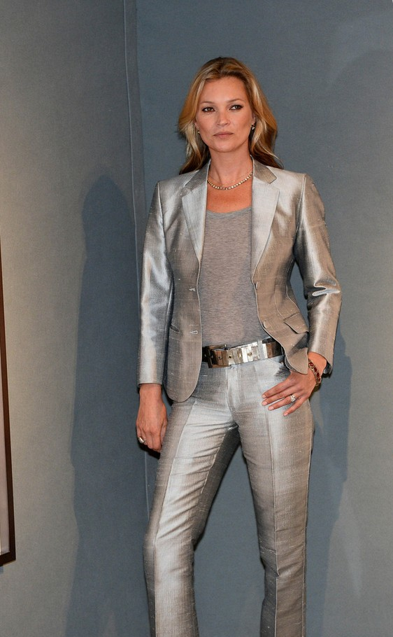 Kate-Moss-Silver-Pantsuit