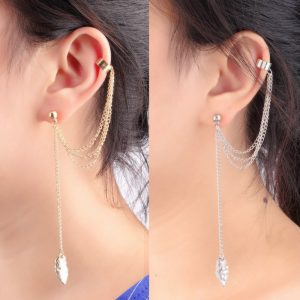 1pair-Ear-Clip-Fashion-Personality-Metal-Leaf-Single-Tassel-Earrings-Cuffs-For-Women-And-Girls-Clip-300x300
