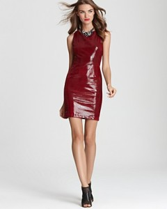 alicoliva-red-leather-dress