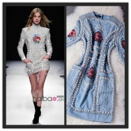 BAROCCO-New-Fashion-2016-Spring-Runway-Dresses-High-Quality-Women-s-Stunning-Hand-Beaded-Embroidery-Novelty