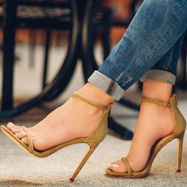 Copper-sandals
