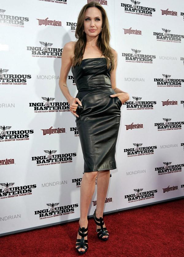 Floor Length Leather Dress