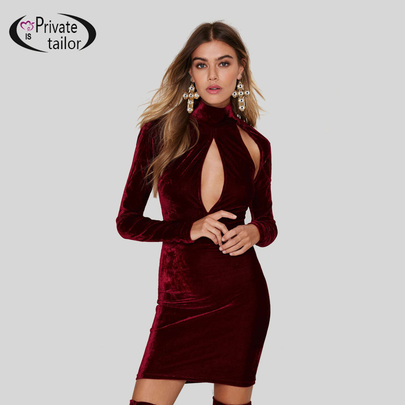 women-winter-dresses-2015-long-sleeve-turtleneck-hollow-out-sexy-font-b-velvet-b-font-bodycon