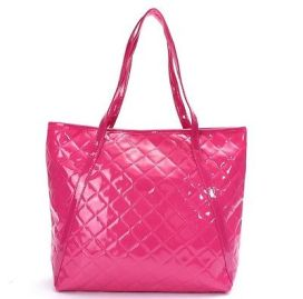 hot-pink-quilted-handbag-patent-everyday-casual-spacious