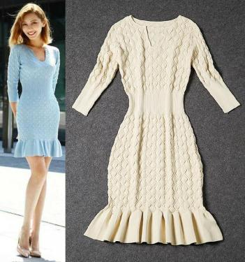 best-quality-new-hot-fashion-2015-autumn-winter-runway-designer-women-wool-knitted-sweater-dress-slim