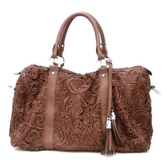 brown-lace-satchel-handbag