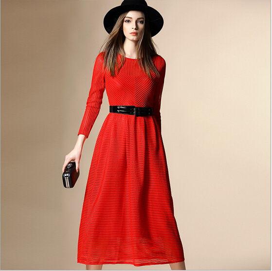 luxury-high-quality-2016-designer-runway-maxi-dress-spring-women-brand-long-sleeve-vintage-red-and
