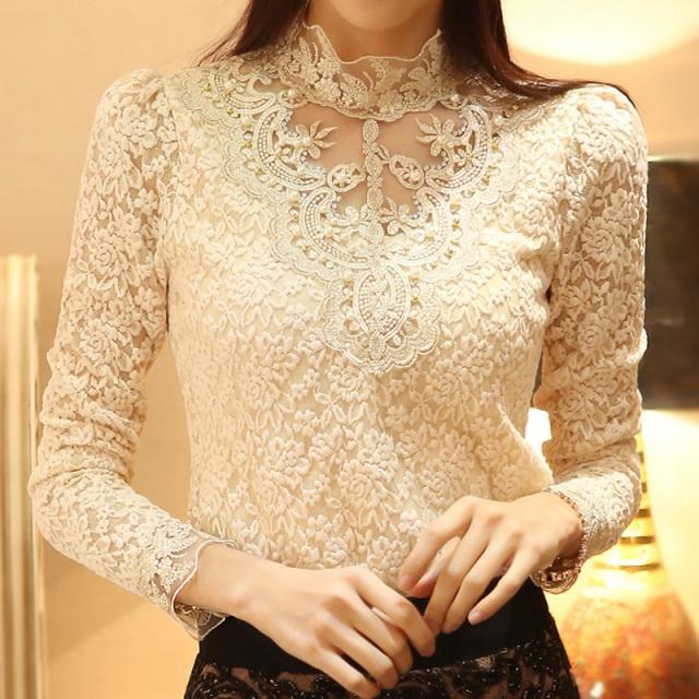 new-spring-2014-women-crochet-blouse-lace-chiffon-shirt-women-clothing-basic-shirt-vintage-blusas-femininas