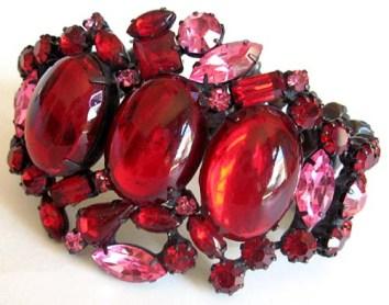 vintage-red-and-pink-rhinestone-bracelet