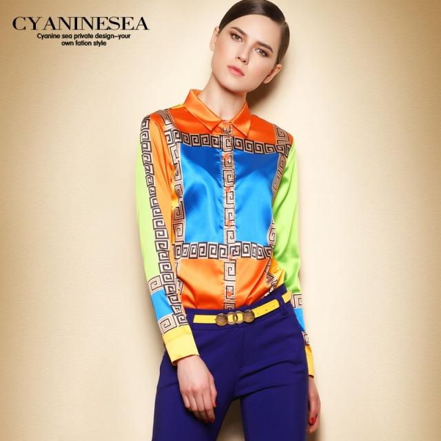 women-blouses-brand-2015-autumn-runway-plus-size-women-blouses-long-sleeve-color-block-print-career