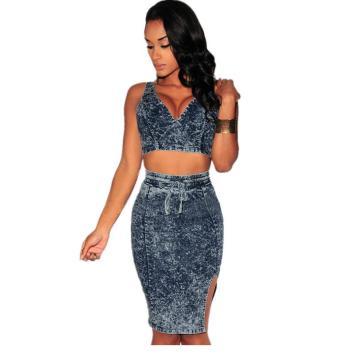 crop-top-and-skirt-set-2016-women-sexy-bodycon-2-piece-sets-ladies-tie-dye-denim