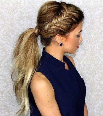 cute-ponytails-for-long-medium-length-hair-1