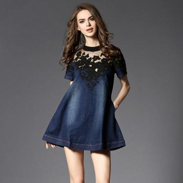 top-quality-brand-fashion-font-b-runway-b-font-font-b-denim-b-font-dress-women