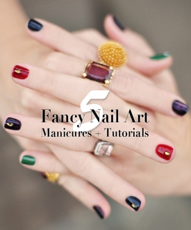 Glitzy glamorous nail art do it yourself manicures are a great 5 fancy nail art manicures tutorials holidays solutioingenieria Images