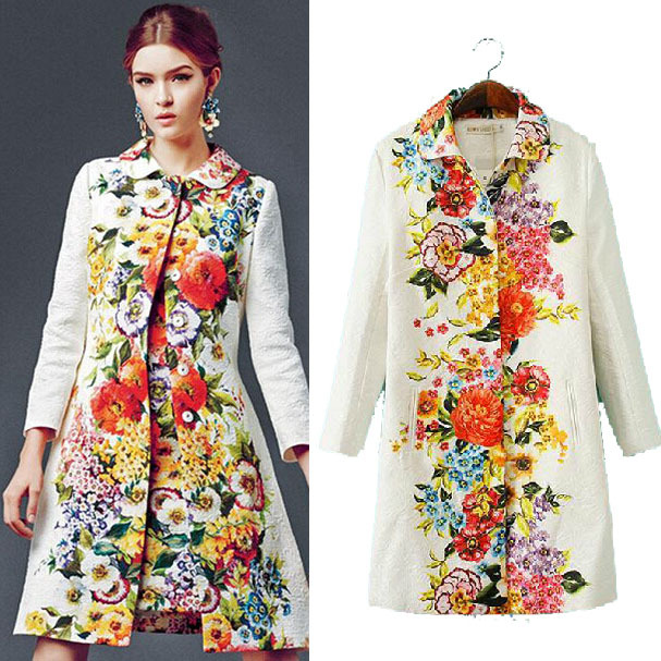2014-Women-Winter-White-Floral-Coat-catwalk-models-printed-long-sleeved-Trench-quality-boutique-ZA-Brand