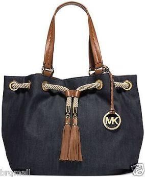 michael-kors-marina-brown-denim-navy-large-gathered-tote-purse-handbag-96c7081b08dfa818ffaa6e4e99e8a34a