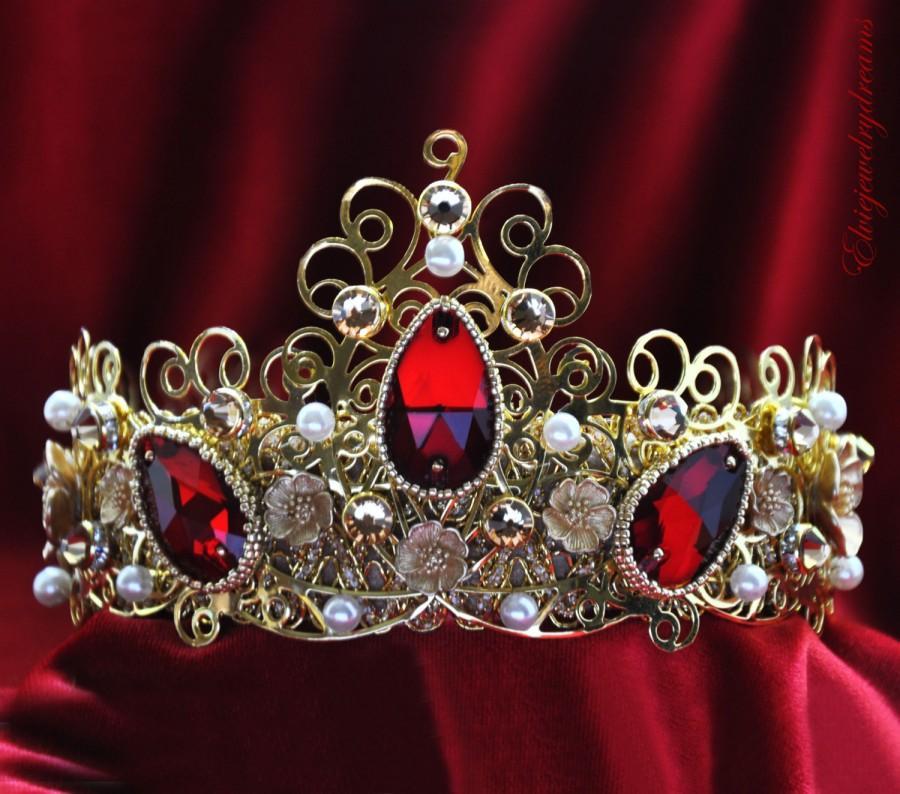 red-rhinestone-bridal-crown-tiara-with-swarovski-crystals-pearls-for-bride-bridesmaid-renaissance-crown-wedding-party-baroque-runway