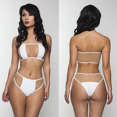 HOT-Women-Two-Piece-Bathing-Suit-Sexy-Sheer-Monokini-Bikini-Set-Swimwear-Bandage