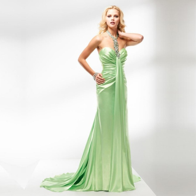 WLF171-Real-Sample-Luxury-Strench-Satin-font-b-Evening-b-font-font-b-Gowns-b-font