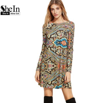 SheIn-Womens-font-b-Clothing-b-font-Vintage-Autumn-Dresses-for-Women-Multicolor-font-b-Paisley